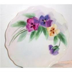 Hand Painted Pansy  Decorated Limoges Plate #863407