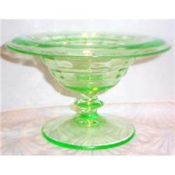 Green Party Line Depression Glass Mayonnaise #863412