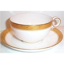 Royal Worcester Gold Trimmed Cup and Saucer #863423
