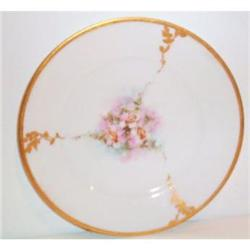 Hand Painted, Rose Decorated, Bavarian Plate #863585