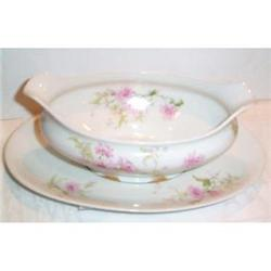 Limoges Floral Sauce Boat and Underplate #863608