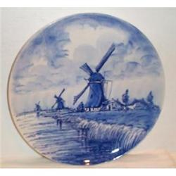Blue and White Delft Windmill Plate #863627