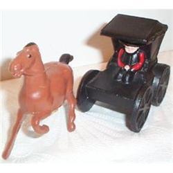 Metal Amish Horse and Buggy Salt and Pepper #863648