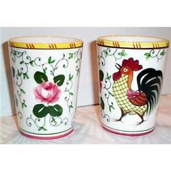 Two  Rooster and Roses Tumblers #863652