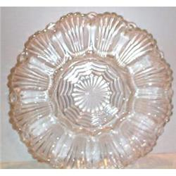 Pressed Glass Deviled Egg Plate #863691