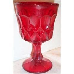 Red Fostoria Teardrop Footed Goblet #863710