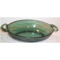 Fostoria Spruce Green Horizon Oval Bowl #863713