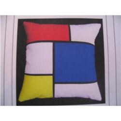 Pair of Mondrian Print pillows  #863758
