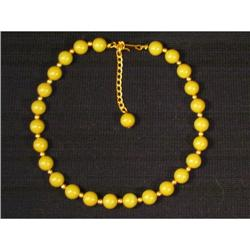 Spring Green bakelite and Gold Necklace #863760
