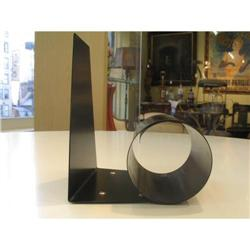 Art deco book end black metal  #863767