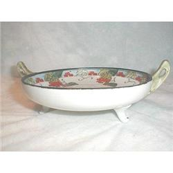 NIPPON HAND PAINTED 3 FOOTED BOWL - MARKED #863829
