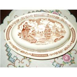 Staffordshire Butter Dish #863835