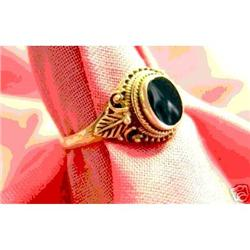 Sterling Silver and Black Onyz Ring #863848