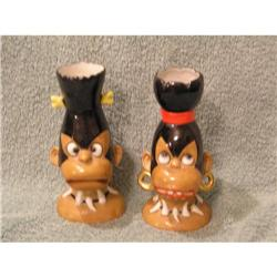 Pair of Unusual Ucagco African Native Head #863910