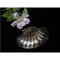 SILVERPLT SHELL DISH WITH FROSTED GLASS INSERT #863924