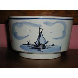 Delft Handpainted & Signed Pottery Bowl #863948