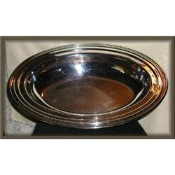 Silver Oval Serving Bowl, Concord # 6412  #863954