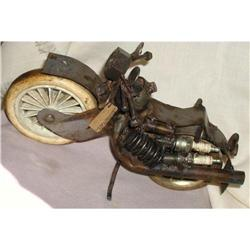 Motorcycle Sculpture Handcrafted with Recycled #863964