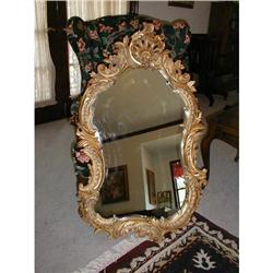 Highly Carved Beveled Mirror #878543