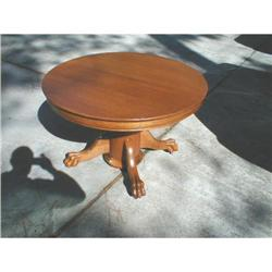 Round Oak Dining Table #878545