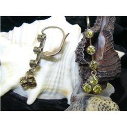 PAIR OF VICTORIAN EARRINGS WITH YELLOW DIA. #896451