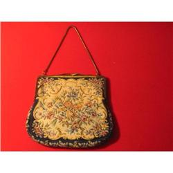 Petite Black Tapestry Embroidered Clutch Purse #917008