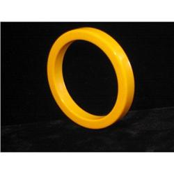 Pumpkin Yellow Bakelite Bangle #917009