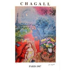 MARC CHAGALL EIFFEL TOWER SERENADE SIGNED  #917019