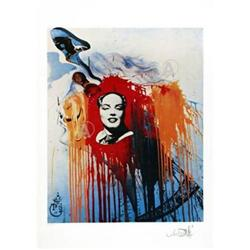 SALVADOR DALI RARE MARILYN MONROE SIGNED Ltd ED #917021