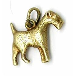 14Kt. Gold Charm  of a dog #917030