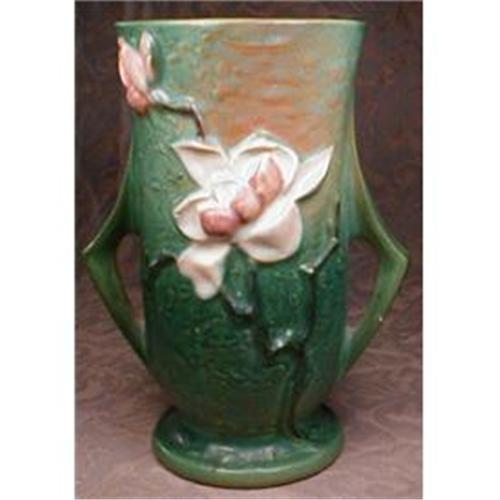 Roseville Magnolia Vase 89 7 2 Handle 901076