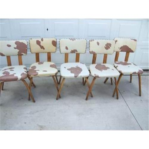 Cowhide Dining Room Chairs: COWBOY WESTERN VINTAGE DINING CHAIRS COWHIDE #906807