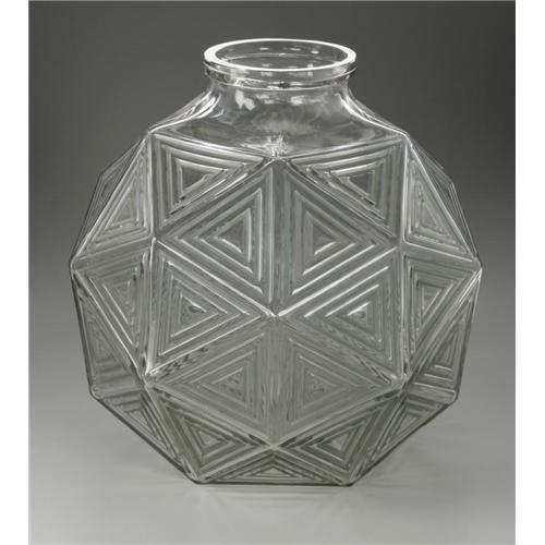 A French R Lalique Glass Nanking Vase A French Glass Vase