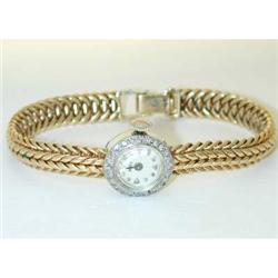 3272 MOVIGA 14K Gold Diamond Watch w/Gold Band