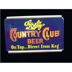 Goetz Country Club Beer Sign