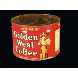 Unopened Golden West 1# Coffee Tin