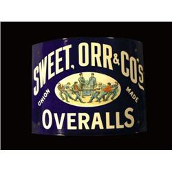 Sweet, Orr and Co. Overalls Sign
