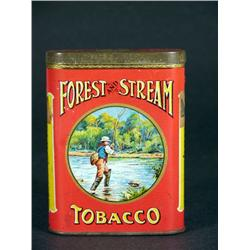 Forest and Stream Pocket Tobacco Tin