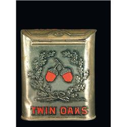 Twin Oaks Pocket Tobacco Tin