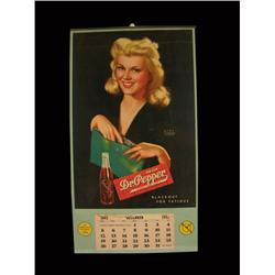 1943 Calendar for Dr. Pepper