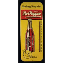 Dr. Pepper tin thermometer