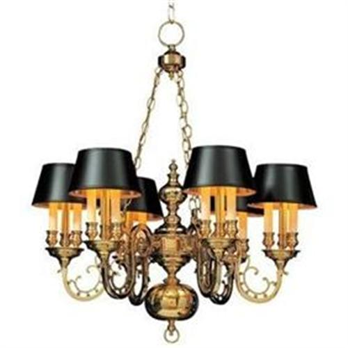 Black chandelier with shades fallcreekonline brass chandelier with 6 black shades 18 lights 954019 mozeypictures Images