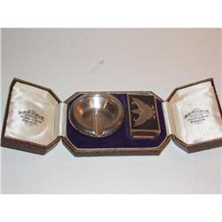 Antique Sterling Silver Smoking Set Fitted Case #964233