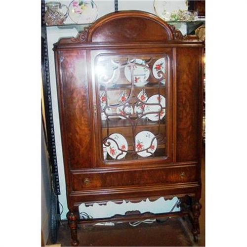 - Antique China Hutch Cabinet 1930's--BEAUTIFUL!! #994196
