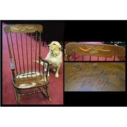 Rocking Chair With Stenciled Back Our