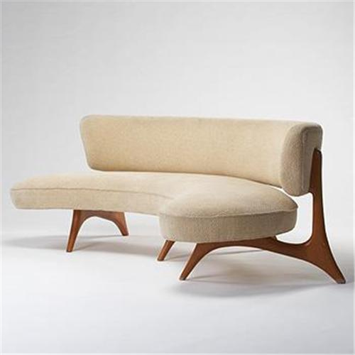 Curved Floating Sofa: Vladimir Kagan Floating Seat And Back S