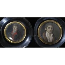 TWO FRENCH MINATURE PORTRAITS, Collot d