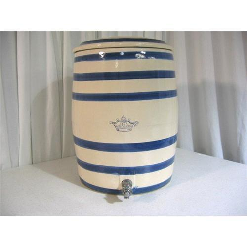 Antique Blue Ring 6 Gallon Water Crock With 1080370