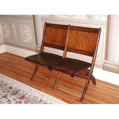 Heywood Wakefield Chair Bench Wooden Double #1092713