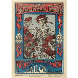 Grateful Dead  Skeleton and Roses  Avalon Poster